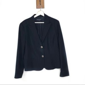 Lafayette 148 New York black 2 button blazer